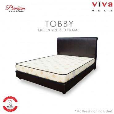 Viva Houz Tobby Divan Bedframe Queen Size (Dark Brown)