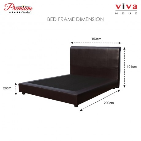 Viva Houz Tobby Divan Bedframe Queen Size (Dark Brown)