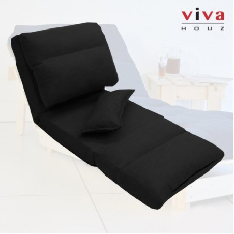 Viva Houz Bluemoon II  Futon/ Sofa / Chair, Made In Malaysia (Black)