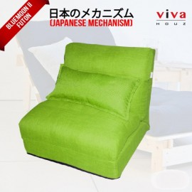 Viva Houz Bluemoon II  Futon/ Sofa / Chair, Made In Malaysia (Green)