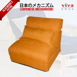 Viva Houz Bluemoon II  Futon/ Sofa / Chair, Made In Malaysia (Orange)