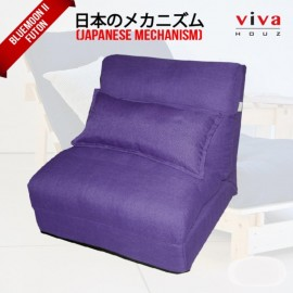 Viva Houz Bluemoon II  Futon/ Sofa / Chair, Made In Malaysia (Purple)
