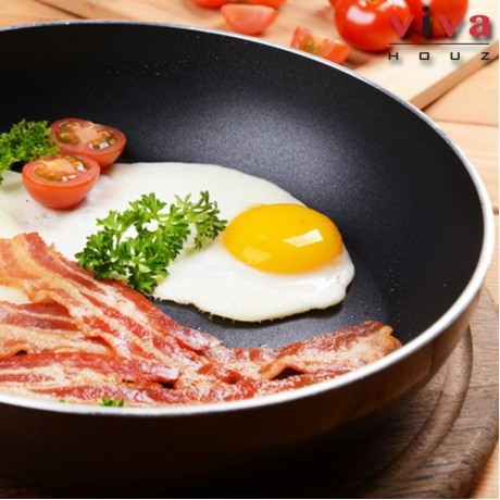 Viva Houz 24cm High Quality Non-Stick, Teflon Coated Frying Pan, Cooking Pan