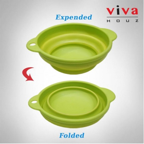Viva Houz Foldable Kitchen Silicone Basket, Bowl, Bucket, Container For Food