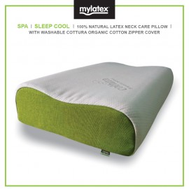 Mylatex SPA Pillow 100% Natural Designed For Cool Sleep Organic Cotton Washable Zipper Cover