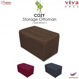 RAYA HOT SELLING : VIVA HOUZ - COZY Storage Ottoman (Brown)