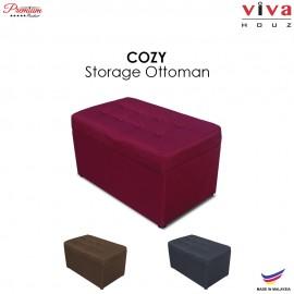 VIVA HOUZ - COZY Storage Ottoman (Maroon)
