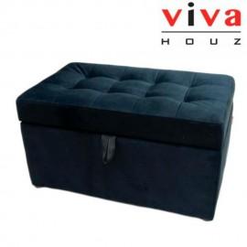 VIVA HOUZ - HARMONY Storage Ottoman (Black)