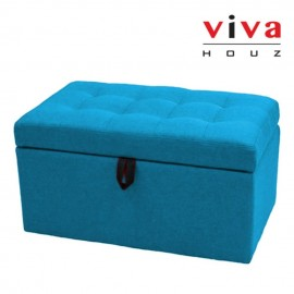 VIVA HOUZ - HARMONY Storage Ottoman (Blue)