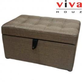 VIVA HOUZ - HARMONY Storage Ottoman (Brown)