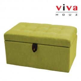 VIVA HOUZ - HARMONY Storage Ottoman (Green)