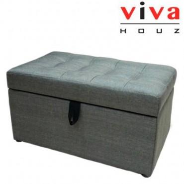 VIVA HOUZ - HARMONY Storage Ottoman (Grey)