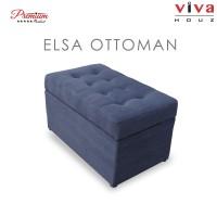 Viva Houz Elsa Storage Ottoman / Bench / Sofa, Fabric Imported From Japan (Dark Grey)