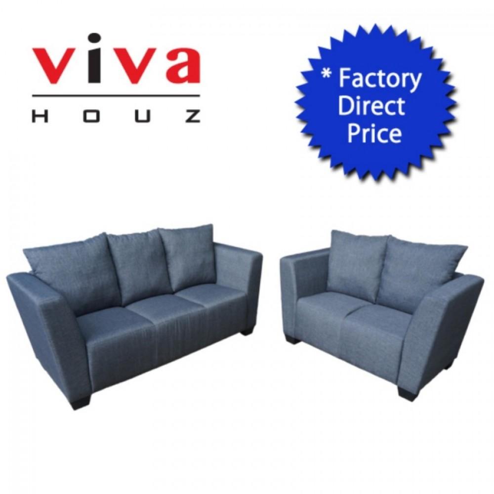 Viva Houz Latina Sofa 3 2 Seater Sofa Grey Made In Malaysia