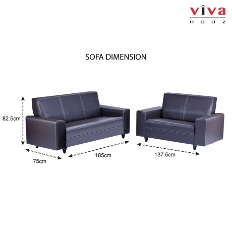 Viva Houz Albina 3 + 2 Seater Sofa, Living Room Sofa