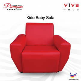 Viva Houz Kido Baby Sofa Kid Sofa Chair (Red) Made In Malaysia