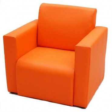VIVA HOUZ - Kids Sofa With Arm (PVC, Orange)