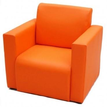 VIVA HOUZ - Kids Sofa With Arm (PVC, Orange)