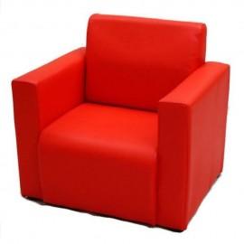 VIVA HOUZ - Kids Sofa With Arm (PVC, Red)