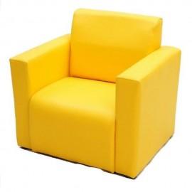 VIVA HOUZ - Kids Sofa With Arm (PVC, Yellow)