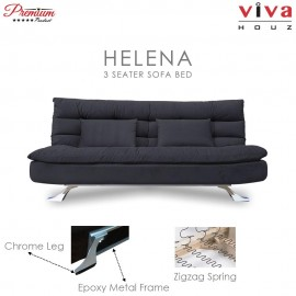 Viva Houz Helena 3 Seater Sofa Bed / Sofa, Full Fabric Removable Cover (Dark Grey)