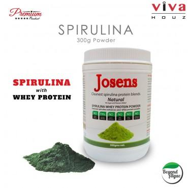 Viva Houz Josens Cleanest Spirulina Whey Protein Blends, Natural Flavor Powder 300g