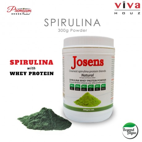 Viva Houz Josens Cleanest Spirulina Whey Protein Blends, Natural Flavor Powder 300g