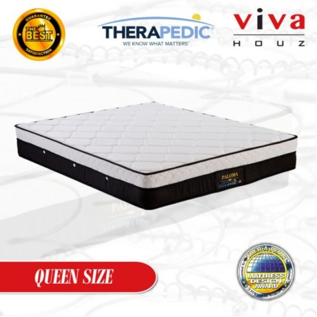 Therapedic, USA, Paloma Spring Luxurious Mattress, 25cm / 10'' Thick (Queen)