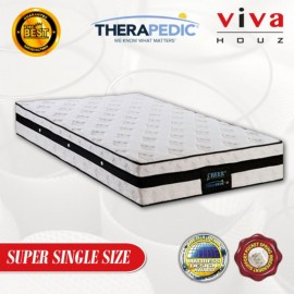 Therapedic, USA, Cheer 3 Zones  Pocketed Spring Luxurious Mattress, 25cm / 10 (Super Single)
