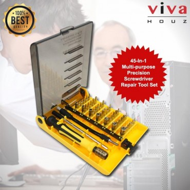 Viva Houz 45-In-1Multi-purpose Precision Magnetic Hand Screwdriver Repair Tool Set For Computer, Phones, Home