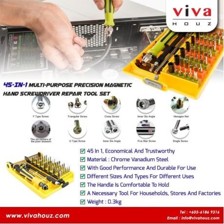 Viva Houz 45-In-1Multi-purpose Precision Magnetic Hand Screwdriver Repair Tool Set For Computer, Phones, Home