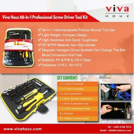 Viva Houz 66-In-1 Professional Hardware Screw Driver Tool Kit, Precision Screwdriver Set