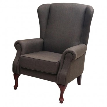VIVA HOUZ ASDA WING CHAIR/SOFA (BROWN)